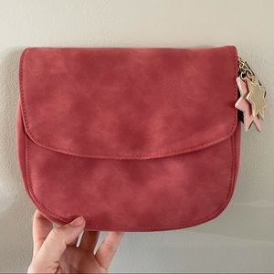 Suede Zippered Cosmetic/Toiletries Pouch NWT